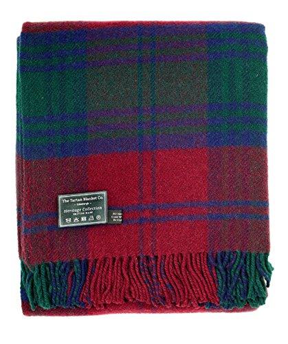 The Tartan Blanket Co. British Made Wool Knee Blanket Lindsay Tartan (30