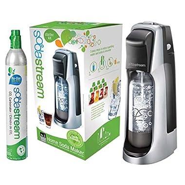 Soda Stream Jet Blk Silver 1012111017 Soda Maker Starter Kit