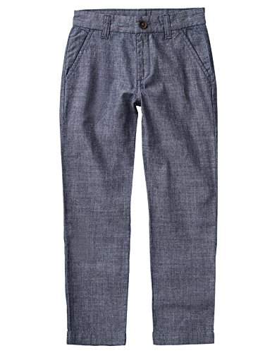 Chambray Blue Clothing (Crazy 8 Little Boys' Chambray Trousers, Chambray Navy, 10)
