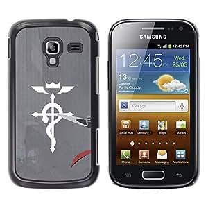 Caucho caso de Shell duro de la cubierta de accesorios de protección BY RAYDREAMMM - Samsung Galaxy Ace 2 - Medicina Cruz