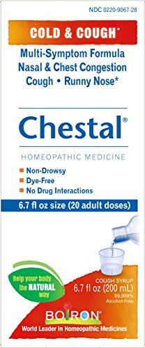 Boiron Chestal Adult Cold & Cough Syrup, 6.7 Ounce, Homeopathic Medicine for Cold and Cough