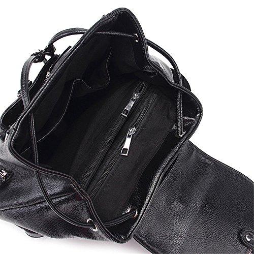 Cuir Sac Femme noir Double Sac Bandoulière Mode Bandoulière Houyediyi à en PU à Souple qCPaSY