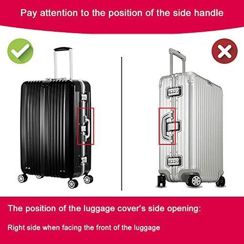 Housse de Valise en Forme de Flamant 18-32 Pouces Luggage Cover en Polyester Couleur Unie Clear Voyage Luggage Trolley Case Cover Protector Flamant 1, S