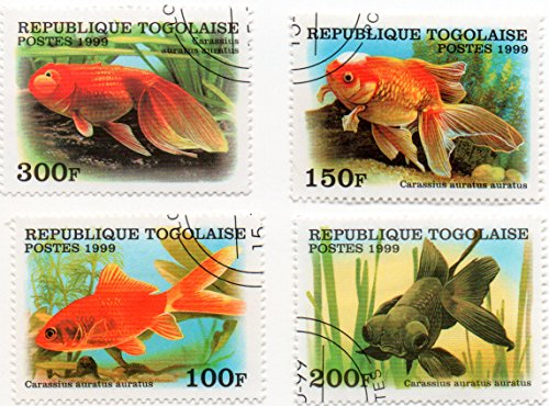 Togo Postage Stamp Set Of 4 Goldfish 1999 Scott #'s 1894-1897 1895 Postage