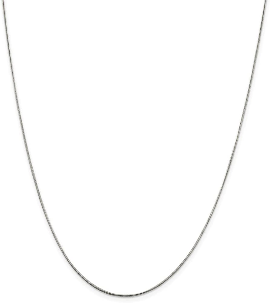 Noble Collections Sterling Silver Small Satin Number 29 on a Sterling Silver Cable Snake or Ball Chain Necklace