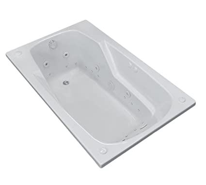 Troy 36 X 60 Rectangular Air U0026 Whirlpool Jetted Drop In Bathtub With Right  Drain     Amazon.com