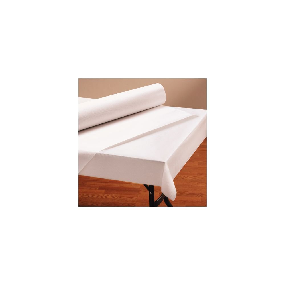 Hoffmaster 260045 Paper Tablecover Roll, 1 Ply, 300-Feet Length x 40-Inch Width, Bright White