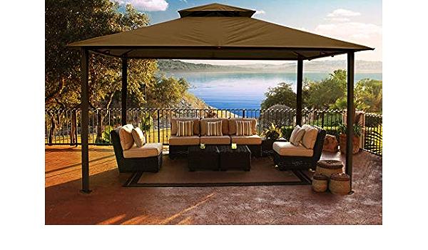 paragon-outdoor gz584s Backyard estructura Sunbrella suave ...
