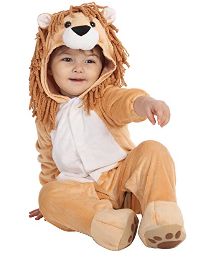 Size 0 Halloween Costumes (Infant Halloween Lion Costume for Baby Boys and Girls  - 5 To12 Months - Perfect Cosplay Theme Party Dress Up Outfit (S, 0-6Month))
