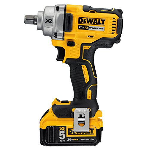 DEWALT 20V MAX XR Cordless Impact Wrench Kit with Detent Pin Anvil, 1/2-Inch -