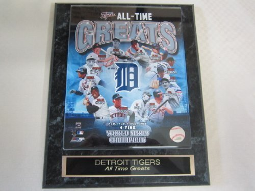 Tigers All Time Greats Collector Plaque w/8x10 Color Photo