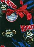 Bobby Jack Rockstar Monkey Soft Micro Fleece Baby Toddler Blanket Rock Star Monkeys