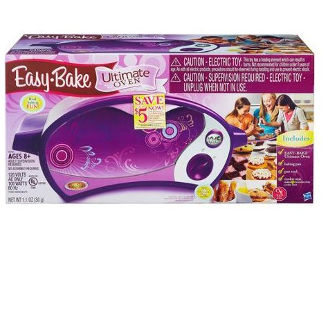 Kitchen Appliances For Kids-Easy Bake Ultimate Oven-Easy Bake. Oven-Children can make 12 chocolate chip cookie bites with the included cookie mix, or they can try other mixes to make all kinds of yummy treats-Oven comes with baking pan, pan tool, chocolat