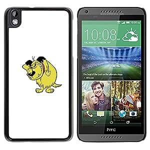 Qstar Arte & diseño plástico duro Fundas Cover Cubre Hard Case Cover para HTC DESIRE 816 ( Dog Cartoon Comic Character Drawing Art)