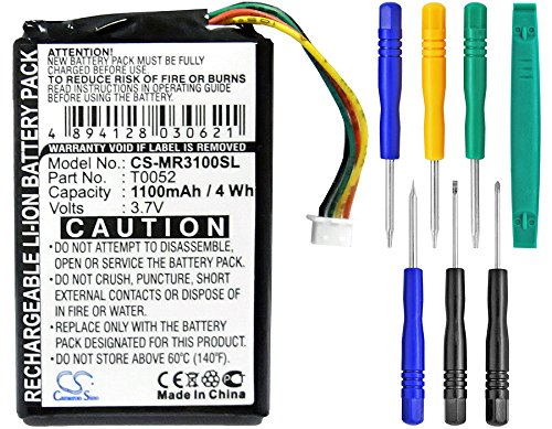 Cameron Sino 1100mAh Li-ion High-Capacity Replacement Batteries for Magellan Maestro 3000, Maestro 3200, fits Magellan T0052 with tools kit