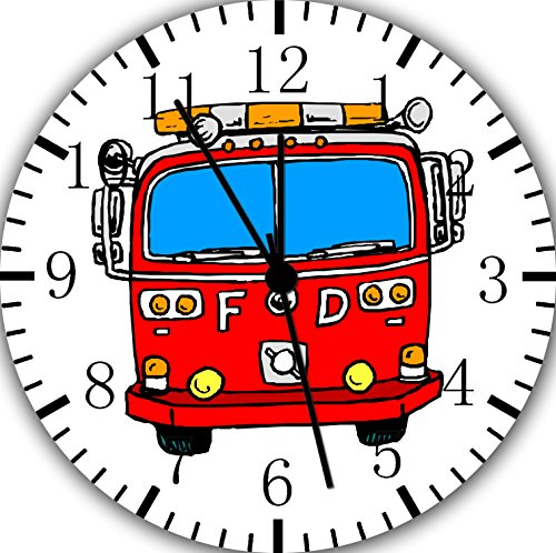 Borderless Fire Truck Frameless Wall Clock W171 Nice for Decor Or Gifts