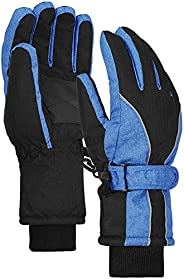 Terra Hiker Waterproof Winter Warm Ski Gloves 3M Thinsulate Snowmobile Cold Weather Gloves for Men, Women, Adu