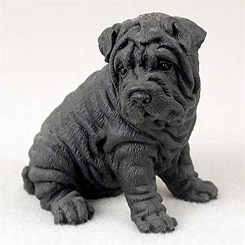 (Ky & Co YesKela Shar-Pei Hand Painted Collectible Dog Figurine Black)