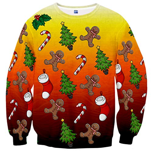 Hgvoetty Men Women Ugly Christmas Sweater Funny X-mas Party Graphic Shirt L]()