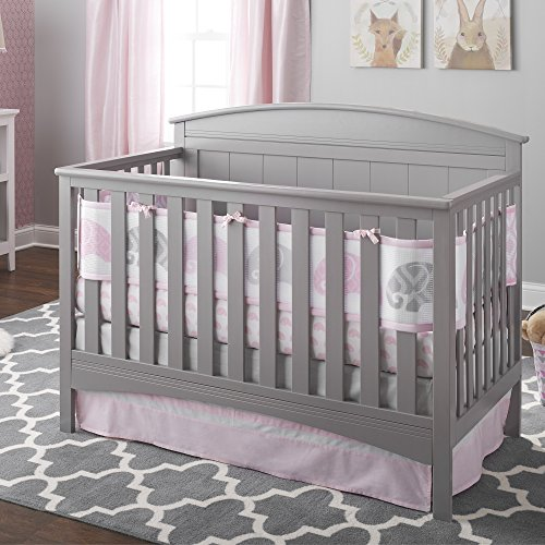 BreathableBaby 3pc Ultra Luxe Reversible Crib Bedding Set - Geo Elephant