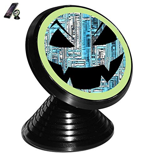 Pumpkin Smiley Face Lamp Magnetic Vehicle Mounted Mobile Phone Bracket Holder 360 with Noctilucent Function]()