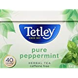 Tetley Pure Peppermint Herbal Tea, 40 Count