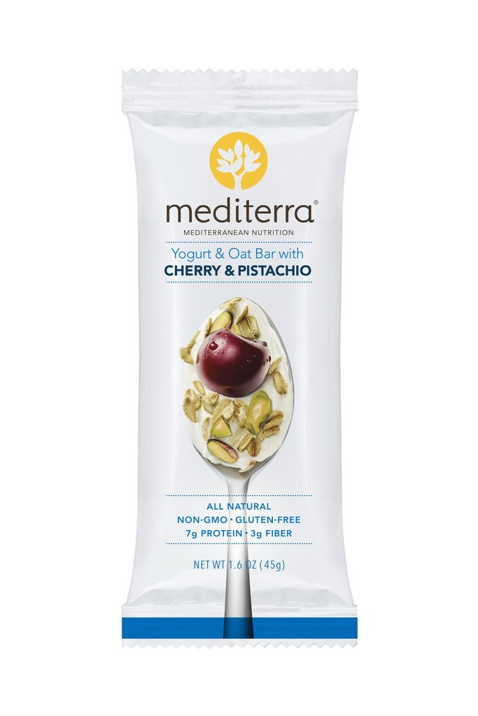 Mediterra | Oat Nutritional Bars | Cherry & Pistachio | non-GMO | Gluten-Free (12 count) by Mediterra