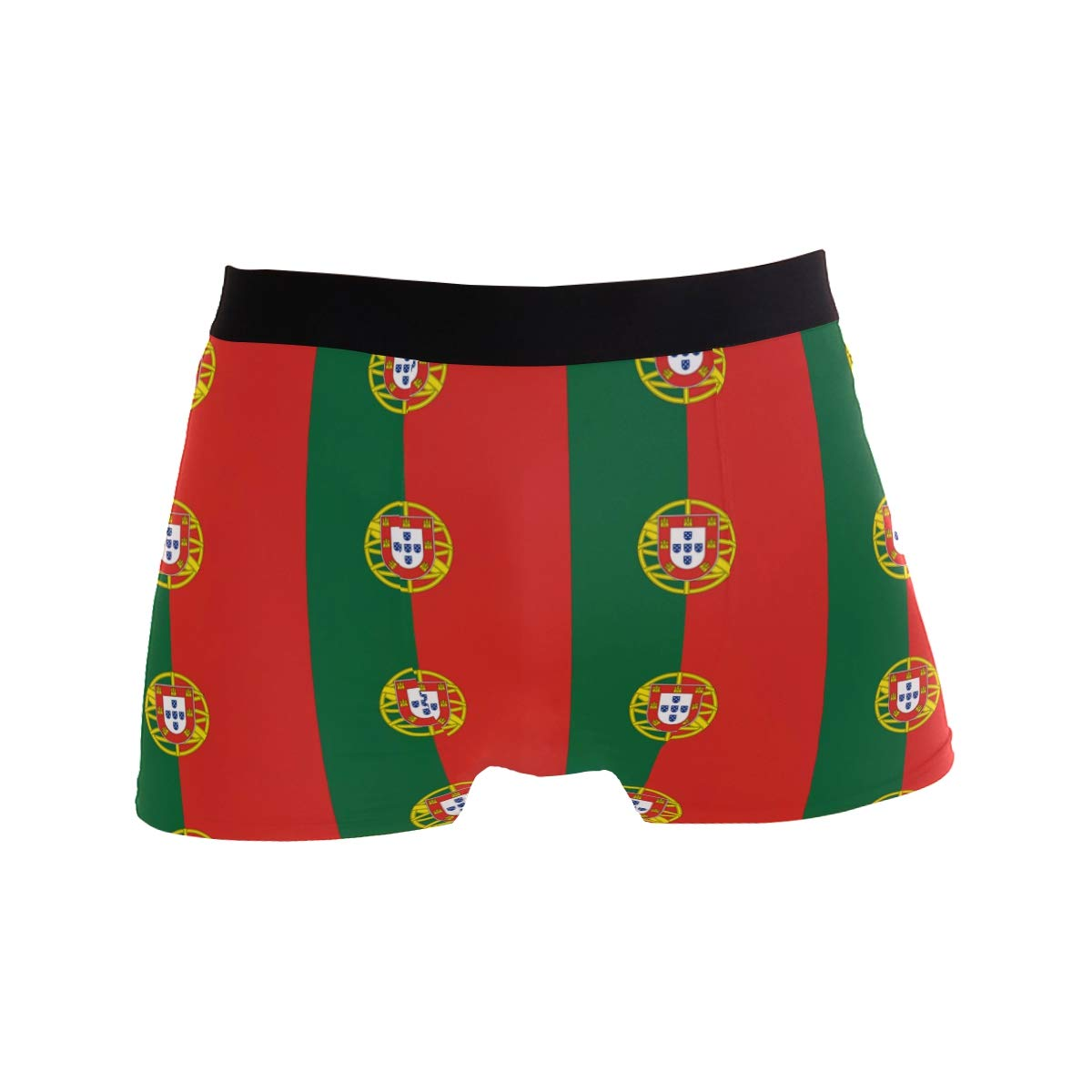 DongDongQiang Portugal Flag Pattern Mens Boxer Briefs Underwear