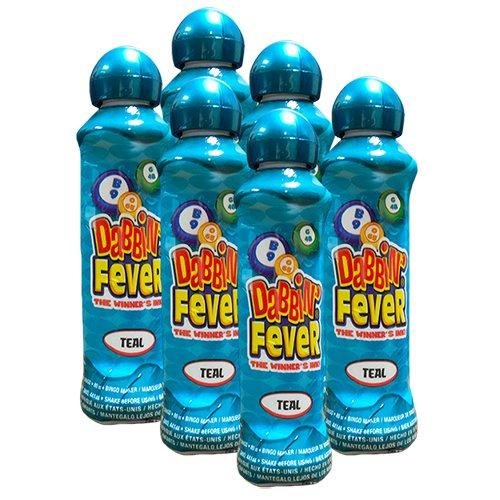 【現金特価】 Six Fever Pack 3oz Dabbin Six ' Fever Teal Bingo B00GUMT6YS Dauber B00GUMT6YS, 安曇村:b3fbdb3b --- realcalcados.com.br