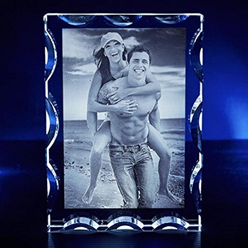 Portrait Serrated Crystal, Transparent, all Size, Personalized Memorable Gift by 3D Innovation