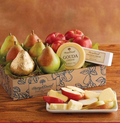 Harry and David Classic Pears, Apples, and Cheese Gift (Harry And David Pears)