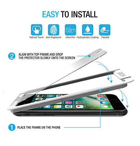 iPhone 8 7 Screen Protector, Maxboost (2-Pack) Tempered Glass Screen Protectors for Apple iPhone 8, iPhone 7 / iPhone 6s 6 2017 2016 2015 Phone [Worry-Free Install] Compatible 3D Touch and most Cases