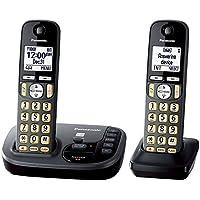 Panasonic KX-TGD222M Cordless Phone with Answering Machine- 2 Handsets (Certified Refurbished) (KX-TGD222N METALLIC GREY)