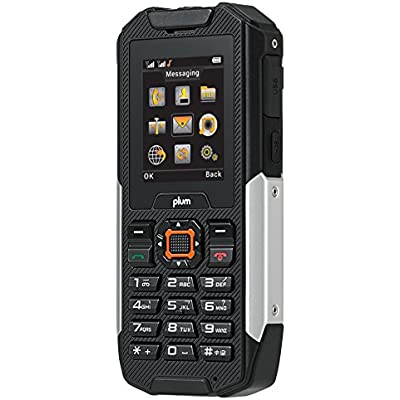 Rugged Cell Phone Unlocked GSM Waterproof Shockproof Built in Power Bank Powerful Flashlight Military Grade IP68 Certified Black Silver