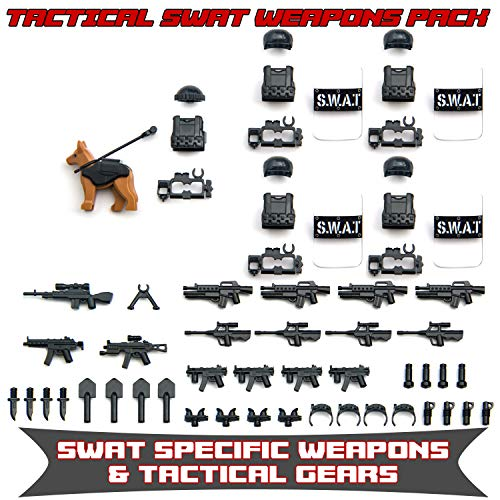 Tactical Weapons Pack SWAT Special OPS Modern Combat Assault Gears & Weapons for Minifigures Bricks]()