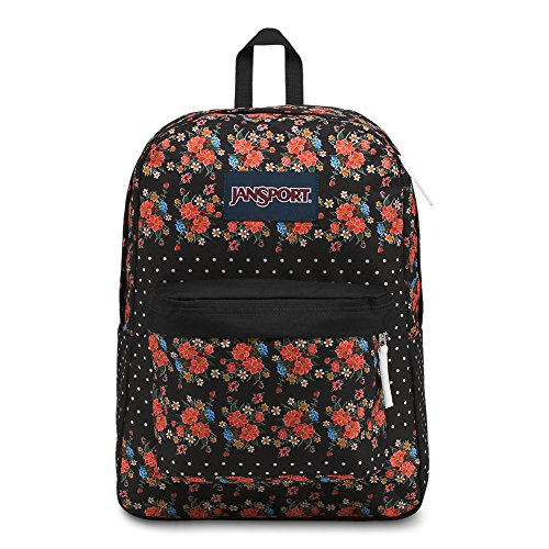 - JanSport Superbreak Backpack - Floral Dot - Classic, Ultralight