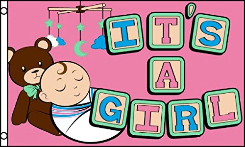 a girl flag baby shower