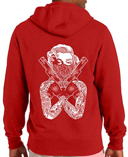 TshirtsXL Men's MM Glocks Graphic Hoodie, Large, Red