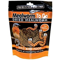 Dried Mealworm To Go Wild Bird Food Size: .22 Lbs