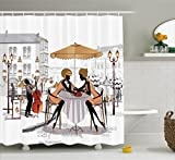 Best Ambesonne Home Fashion Curtains Whites - Fashion House Decor Shower Curtain by Ambesonne, Two Review
