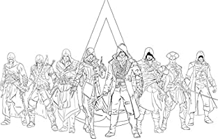 THE OFFICIAL COLORING BOOK ASSASSINS CREED