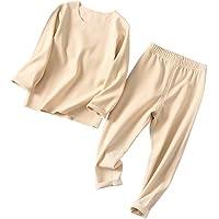 HZYBABY Unisex Baby Seamless Thermal Underwear Set Kids Base Layer Long John Pajamas Set