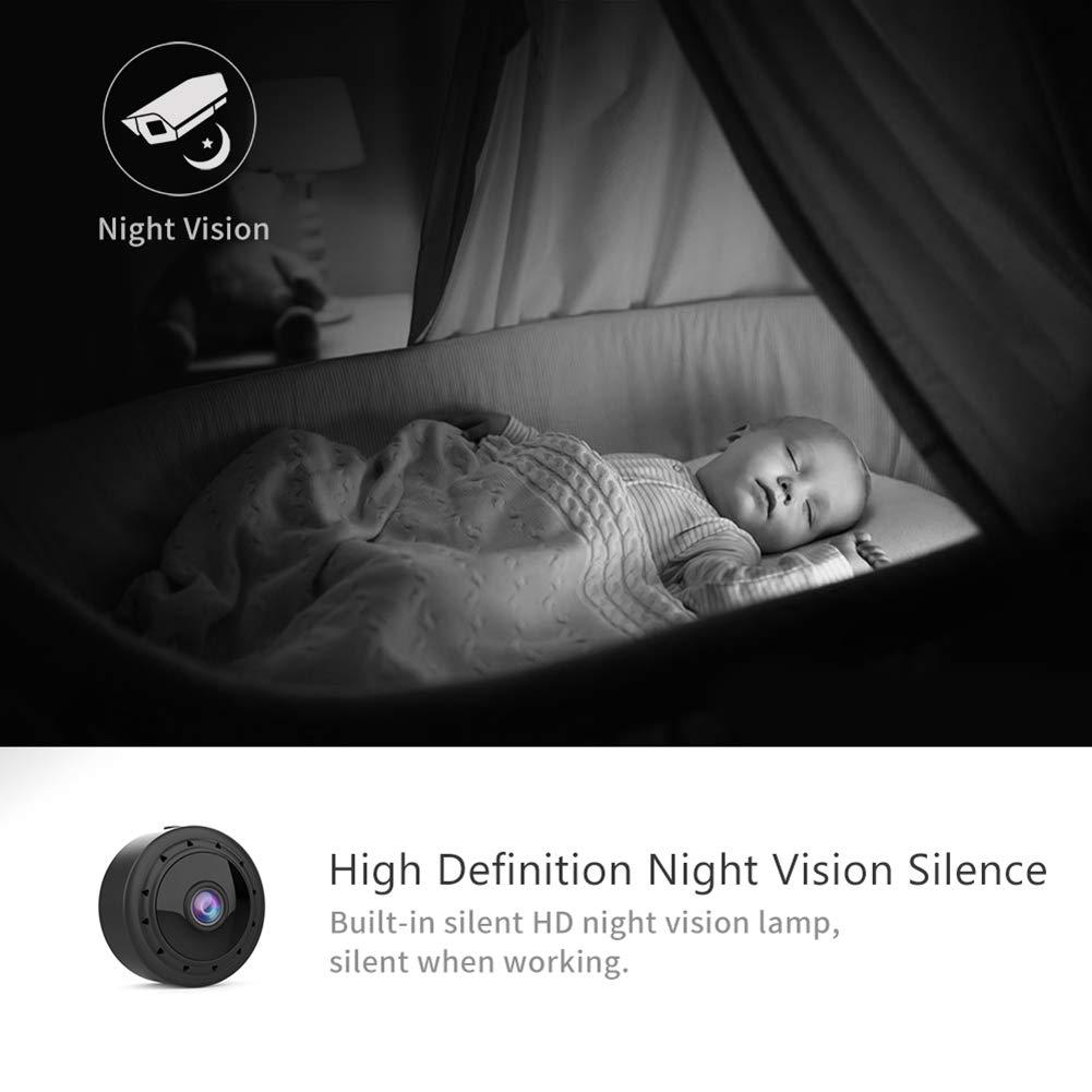 Abej/ón 1080p HD C/ámara De Vigilancia Detecci/ón De Movimiento Visi/ón Nocturna IR para El Hogar TBDLG C/ámara Esp/ía Oculta Coche Oficina
