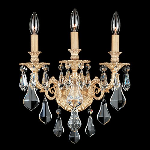 Schonbek Sophia Heirloom Gold Optic Crystal Wall Sconce