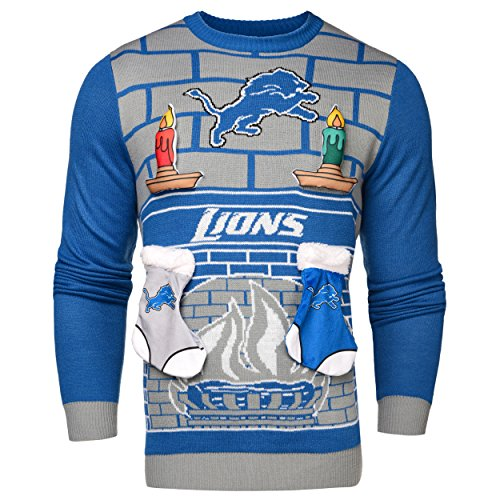 Detroit Lions Ugly 3D Sweater - Mens Small]()
