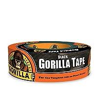 """Cinta de gorila, Cinta adhesiva negra, 1.88 """"x 35 yd, Negro, (paquete de 1)"""
