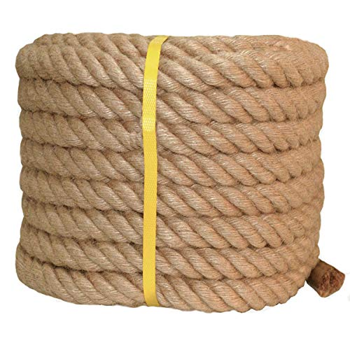 - Twisted Manila Rope Jute Rope (1 in x 50 ft) Natural Thick Hemp Rope for Crafts, Nautical, Landscaping, Railings, Hanging Swing