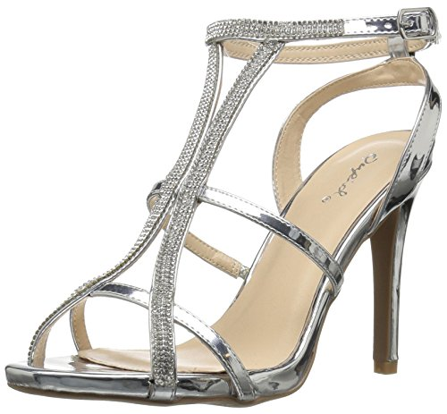 Qupid Women's Heeled Single Sole Heeled Women's Sandal Parent B075WKBLGK 1adf94