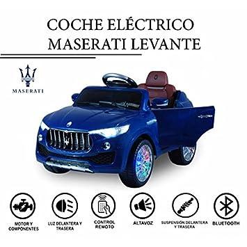 Coche eléctrico para niños 6V con mando - Maserati Levante Azul - Con licencia original: Amazon.es: Juguetes y juegos