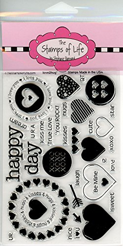 Love Friend Stamps for Card-Making and Scrapbooking Supplies by The Stamps of Life - Love2Hug Valentines Day ()